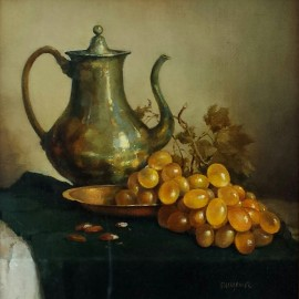 Gennadiy Tishchenko — Still life with grapes
